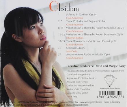 Obsidian : Mika Sasaki plays Clara Schumann
