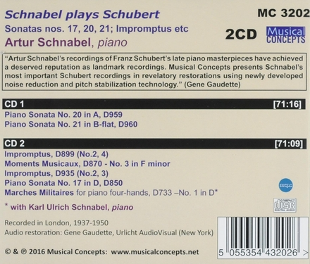 Schnabel plays Schubert