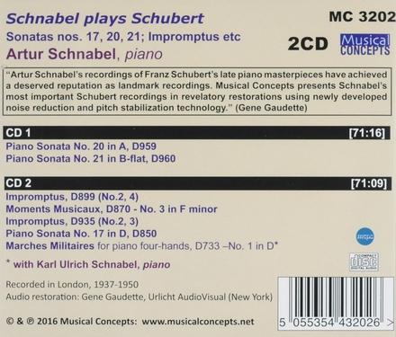 Schnabel plays Schubert