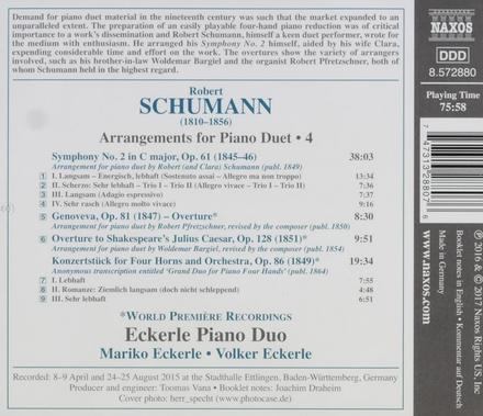 Arrangements for piano duet. Vol. 4
