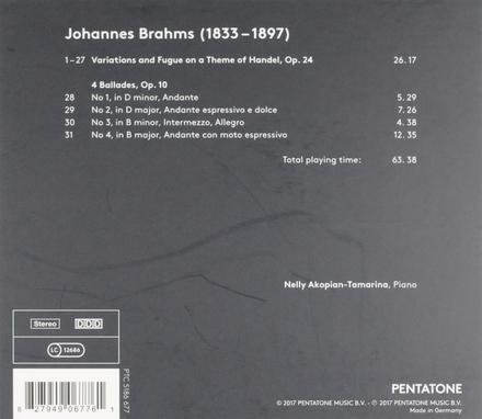 Handel variations op.24 . Ballades op.10