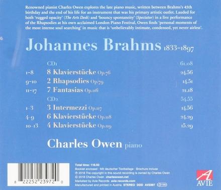 Late piano music opp.76, 79, 116-119