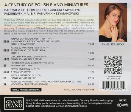 A century of Polish piano miniatures