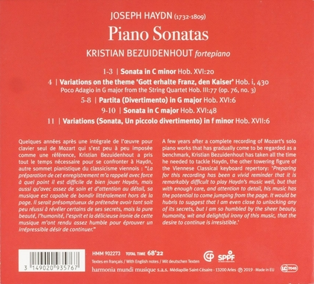 Piano sonatas Hob.XVI:6, 20 & 48