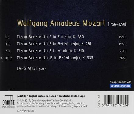 Piano sonatas K280 • K281 • K310 • K333
