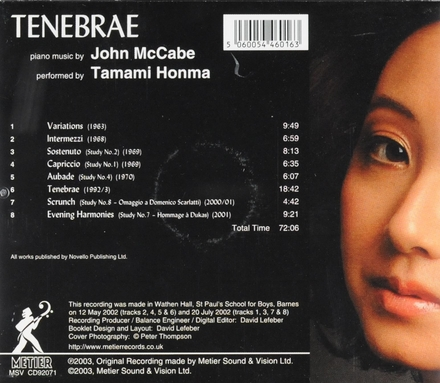 Tenebrae : Piano music by John McCabe