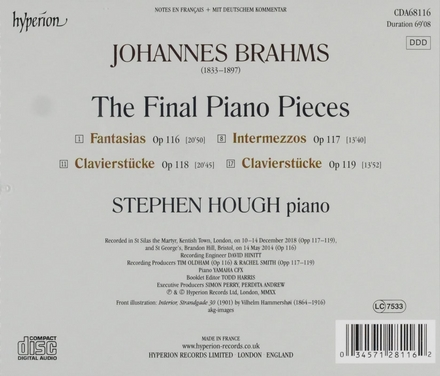 The final piano pieces
