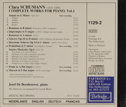 Complete works for piano. Volume 1