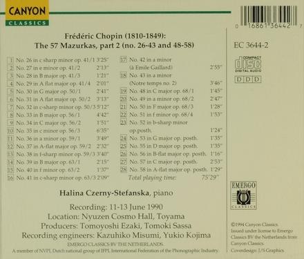 Mazurkas. volume 8