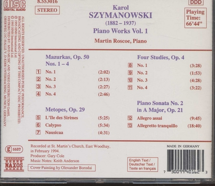 Piano works vol. 1. vol.1
