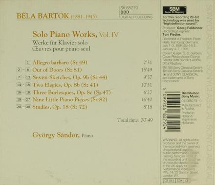 Solo piano works. Vol. 4