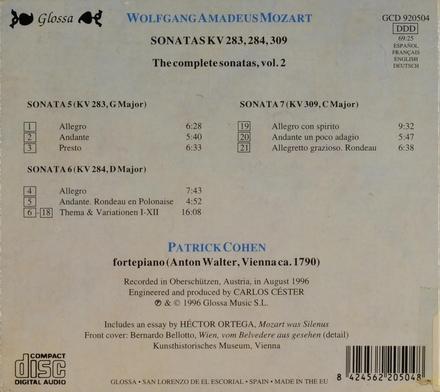 Sonatas KV.283, 284, 309