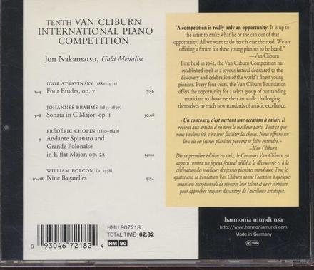 Tenth Van Cliburn International Piano Competition