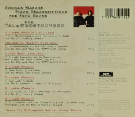 Piano transcriptions for four hands