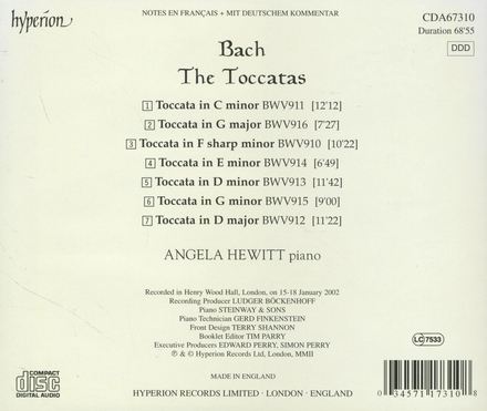 The toccatas