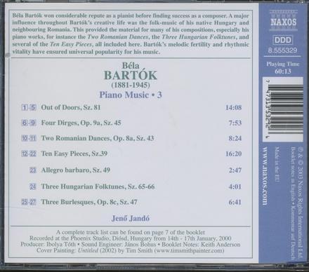 Piano music, volume 3. vol.3