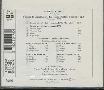 Sonata a tre 'La Follia' : sonate a due violini