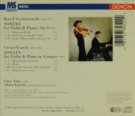 Sonata for violin & piano, op.9 (1904)