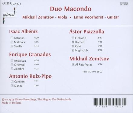 Albéniz Granados Piazzolla