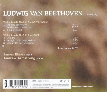 Violin sonatas nos. 6 & 9 'Kreutzer'