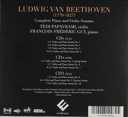 Complete sonatas for piano & violin