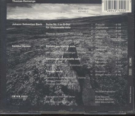 Suite nr.1 in G-Dur für Violoncello solo