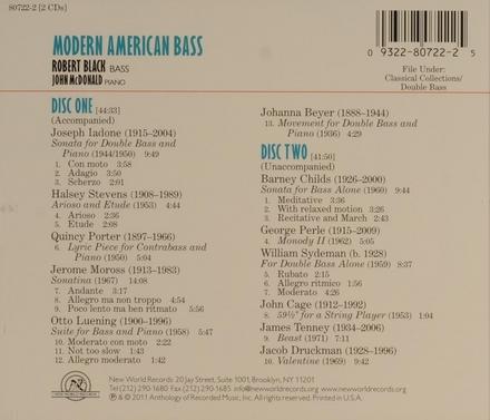 Modern American bass