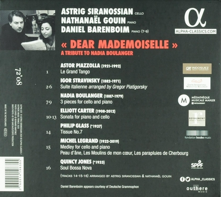 Dear mademoiselle : A tribute to Nadia Boulanger