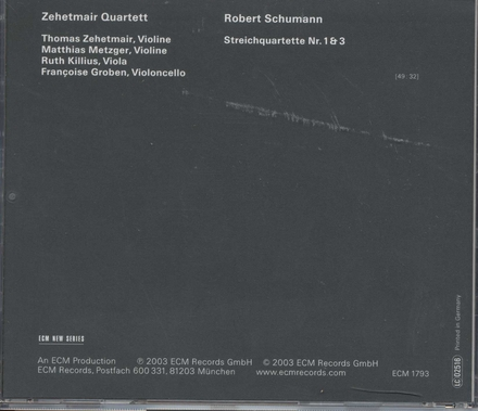Streichquartette Nr. 1 & 3