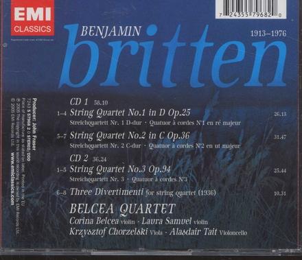String quartets 1, 2 & 3