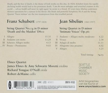 Schubert & Sibelius string quartets