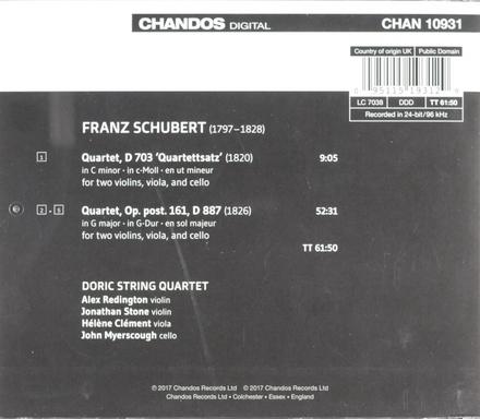 String quartets, D 703 and D 887