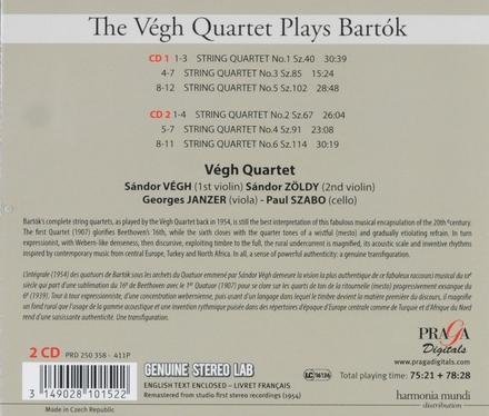The Végh Quartet plays Bartók