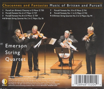 Chaconnes and fantasias : Music of Britten and Purcell