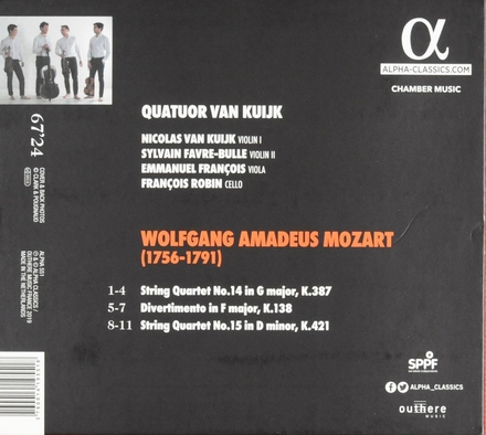 Quartets K. 387 & 421 | Divertimento K. 138
