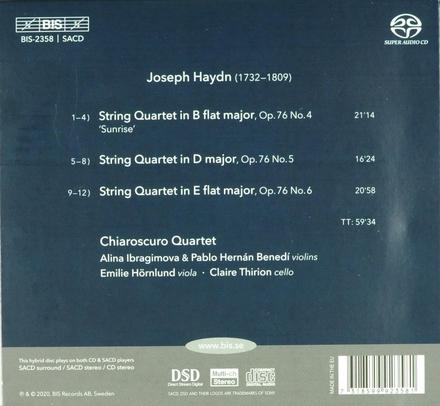 String quartets op.76, 4-6