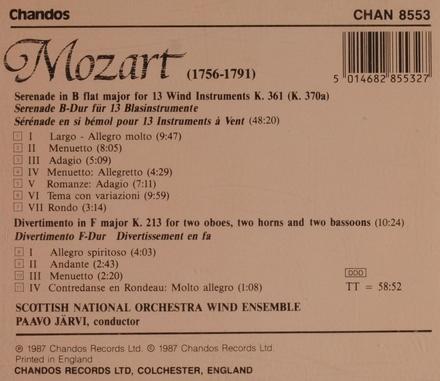 Serenade in B flat for 13 wind instruments KV. 361