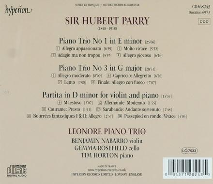 Piano trios nos 1 & 3
