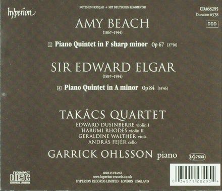 Elgar & Beach : piano quintets