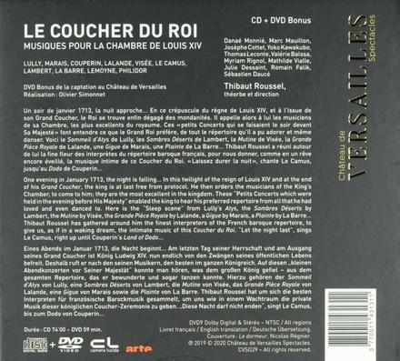 Le coucher du roi : musiques pour la chambre de Louis XIV : Lully, Marais, Lalande, Couperin, Visée, Le Camus, Lamb...