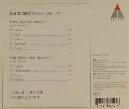 Piano quintet & piano trio no.2