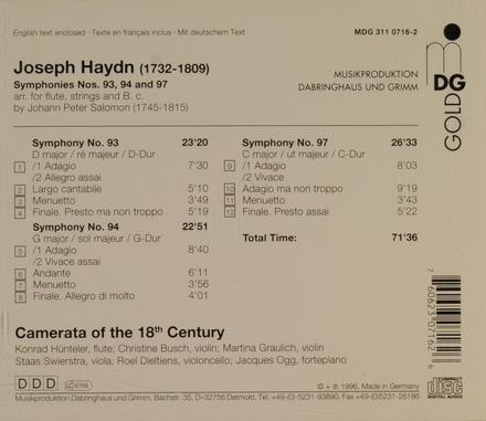 Symphonies nos.93, 94 and 97
