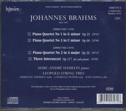 The piano quartets