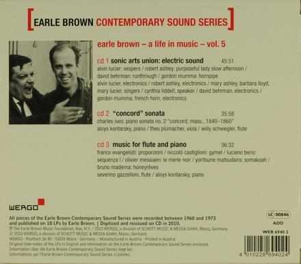 Earle Brown contemporary sound series. Vol. 5