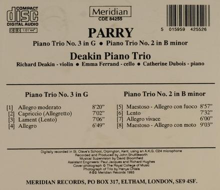 Piano trio no.3 in G