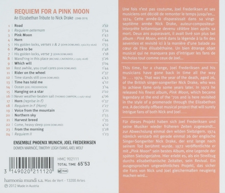 Requiem for a pink moon : an Elizabethan tribute to Nick Drake