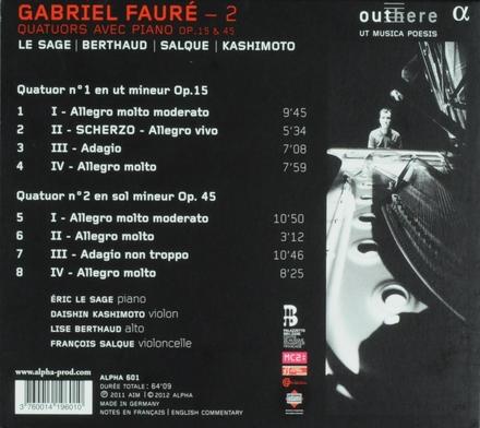 Quatuors avec piano op.15 & 45. Vol. 2