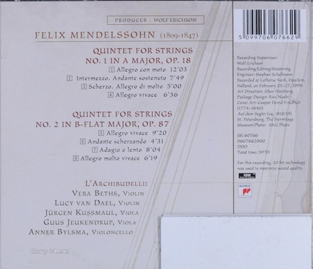 Quintet for strings no. 1 in A major, Op. 18