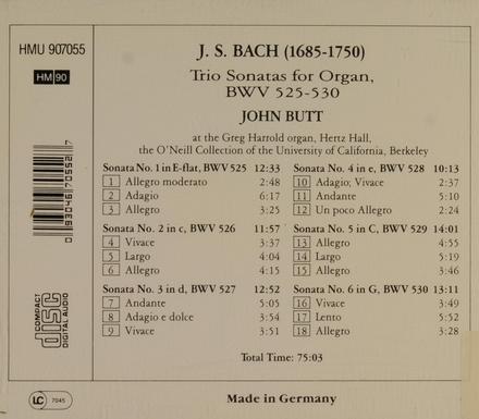 Trio sonatas, BWV.525-530