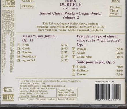 Sacred choral & organ works. vol.2